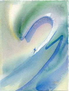 "Drawing Lines - 15"" x 11"" - Surf Art: John Severson"