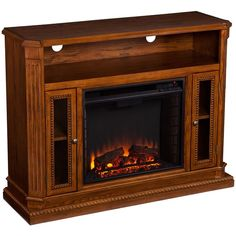 Lifesmart Lifelux Extra Large Room 60-inch Media Center Fireplace ...