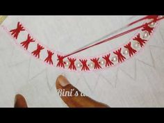Repeat Hand embroidery:Simple dress neck embroidery design with beads,Kurti neck embroidery by Rini Zaman - Simple Embroidery Designs, Hand Embroidery Patterns Flowers, Hand Embroidery Videos, Embroidery Stitches Tutorial, Embroidery On Clothes, Embroidery Flowers Pattern, Kasuti Embroidery, Kurti Embroidery Design, Creative Embroidery