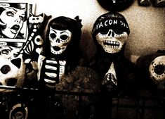 Cholo and chola sugar skulls | The Day Of The Dead In 17 Artistic Images