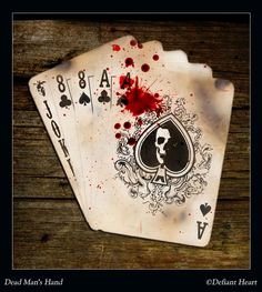 A cool pic of Dead Man's Hand, which legend holds was the poker hand drawn by Wild Bill Hickok before he was murdered. By Defiant Heart on deviantART.