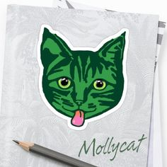 thanks to the crazy cat in Ohio, USA who bought this 'Green Mollycat' sticker design from the Mollycat collection at Redbubble . 'why not send me a photo and show me where you stuck your sticker! Happy Stickers, Red Bubble Stickers, Framed Prints, Canvas Prints, Art Prints, Small Cat, Sticker Design, Crazy Cats, Cats Of Instagram