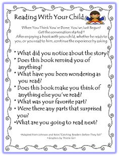 Letters to send home to parents about reading.