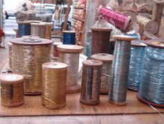 Tinsel Trading Company, New York, Vintage Metallic threads - Flickr image by such pretty things
