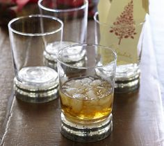 Mercury Glass Tumbler, Set of 4 | Pottery Barn love these to go with my china (12)