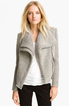 IRO Draped Collar Knit Jacket available at Nordstrom - I sure as hell can't afford it, so I'm gonna crochet the hell out of this.