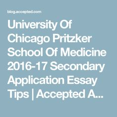 Law school university of chicago admissions essays