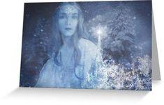 Christmas Card 'Ice Elf' Artwork by Sandy Richter December Holidays, Happy Holidays, Framed Prints, Canvas Prints, Art Prints, Art Boards, Stationary, Elf, Art Photography