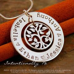 Hand Stamped Mommy Necklace  Personalized by IntentionallyMe, $68.00