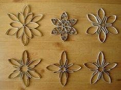 Mejores 7 Imagenes De Copos De Nieve En Pinterest Coronas Abrigos - Adornos-de-navidad-con-rollo-de-papel-higienico