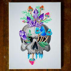 Crystal Head Original Painting