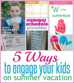 5 Ways to Engage your Kids on Summer Vacation - Infarrantly Creative Easy Diy Crafts, Diy Craft Projects, Crafts For Kids, Handprint Art, Summer Diy, Summer Ideas, Summer Recipes, Rag Quilt, Summer Activities