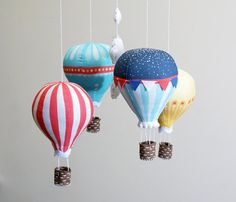 Hot Air Balloon DIY baby mobile kit modern by ButtonFaceCo