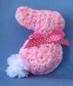 PDF Crochet Pattern E Book Amigurumi Adorable Bunny Rabbit Applique and Stuffed Toyor a rabbitt pin for Easter