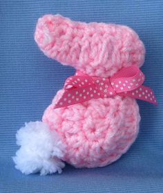 PDF Crochet Pattern E Book Amigurumi Bunny Rabbit Applique and Stuffed Toy or a rabbit pin for Easter