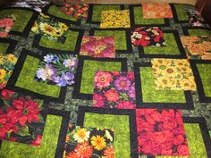'Flower Bed'  By Sue Matyszak pattern from Maple Island Quilts