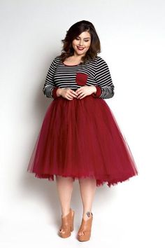 fa909405b881d 5 cute spring outfits with a tulle skirt · Big Girl FashionCurvy ...