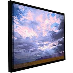 ArtWall Dean Uhlinger Echo Cliffs Monsoon Floater Framed Gallery-Wrapped Canvas, Size: 18 x 24, Brown