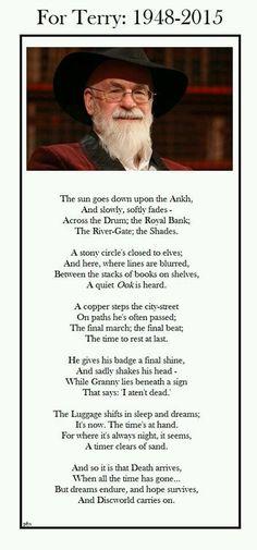 Poem for Terry Pratchett Terry Pratchett Discworld, Terry Pratchett Death, Neil Gaiman, Kawaii, Love Book, Book Quotes, Book Worms, My Books, Literature