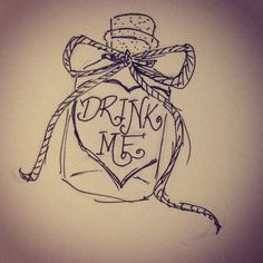 Drawn alice in wonderland sketch - pin to your gallery. Explore what was found for the drawn alice in wonderland sketch Doodle Drawings, Easy Drawings, Drawing Sketches, Drawing Ideas, Sketching, Drawing Style, Art And Illustration, Alice In Wonderland Drawings, Disney Sleeve