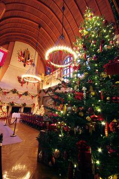 #Christmas at #Biltmore House 2012 inside the Banquet Hall. More Biltmore photos: www.romanticasheville.com/Biltmore.html