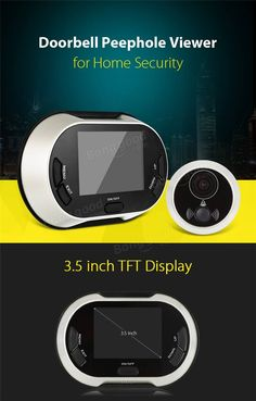 Only US$47.44, buy best 3.5 inch Doorbell Peephole Viewer Door Bell Video Recording Auto Take Photos Home Security Camera sale online store at wholesale price.US/EU warehouse.