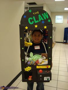 The Claw - Homemade Halloween Costume. I love this! I was addicted to claw machines as a kid,