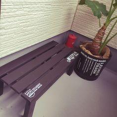 すのこDIY/DIY/玄関/入り口/喫煙席/観葉植物/リメ缶…などのインテリア実例 - 2015-08-16 11:31:48   RoomClip(ルームクリップ)