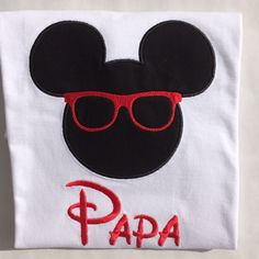 A personal favorite from my Etsy shop https://www.etsy.com/listing/261171722/mickey-mouse-with-glasses-and-name