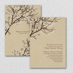 Simple wedding invites, using only black ink, but the kraft paper ...
