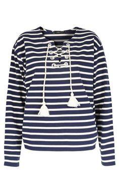 SET Baumwoll-Langarmshirt mit Streifen bei myClassico - Premium Fashion Online Shop