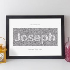 Personalised Name Print Contemporary By Elevencorners | notonthehighstreet.com