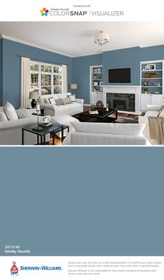 I found this color with ColorSnap® Visualizer for iPhone by Sherwin-Williams: Smoky Azurite (SW 9148).