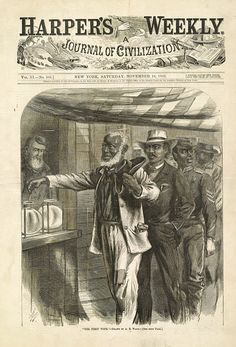 1870 - The 15th Amendment gives former enslaved persons the right to vote. That gives male citizens of any race the right to vote. | Getting Elected | Kids Discover
