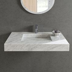 Stone Bathroom Sink, Small Bathroom, Tennessee, Washroom Design, Countertop Basin, Marble Vanity Tops, Upstairs Bathrooms, Marble Wall, Carrara Marble