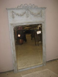 Antique French Trumeau Mirrors, Large Wall, Dresser, Oval and Vanity Mirrors for Sale French Armoire, Antique Armoire, Trumeau Mirror, Mirror Mirror, Mirrors For Sale, French Antiques, Miniature, Vanity, Woodworking
