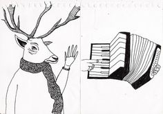deer likes to jam on the accordion