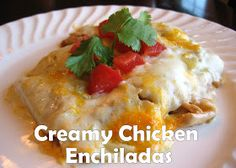 Pink Cookies with Sprinkles: Homemade Chicken Enchiladas! (with NO cream soup)