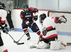 The underdog Panthers jumped out to a 2-0 lead Wednesday night and settled for a 3-3 tie at Rockland Ice Arena.