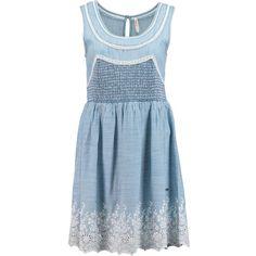 PEPE JEANS Jeanskleid mit Stickerei ► Das Sommerkleid von PATRIZIA PEPE ist aus einem leichten Denimstoff geschnitten, der mit Bordüren und Stickereien für einen romantisch verspielten Look sorgt. Ein elastischer, geraffter Einsatz sorgt für einen schmeichelnden Effekt entlang der Taille.