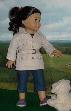 Ka-yoot! Safari Jacket, 2 Tee Shirts, Capri Pants, and shoes for 18 inch Dolls. SugarLoaf via Etsy.