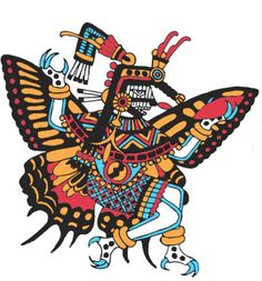 "In Aztec mythology, Itzpapalotl (""Clawed Butterfly"" or ""Obsidian Butterfly"") was a fearsome skeletal warrior goddess, who ruled over the paradise world of Tamoanchan, the paradise of victims of infant mortality and place identified where humans were created."