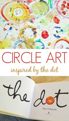 A Circle Art Activity for Kids inspired by The Dot by Peter Reynolds