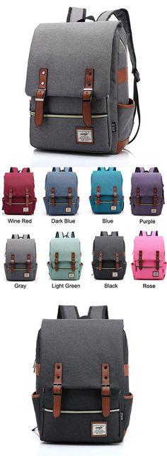 Vintage Canvas Travel Backpack Leisure Backpack&Schoolbag for big sale! #canvas #school #student #Bag #travel #leisure
