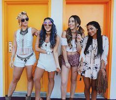 Coachella outfits from Alisha, Sierra, Niki and Gabi