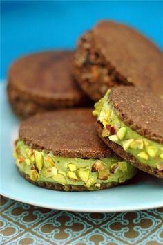 Шоколадное веганское печенье/пирожные/сендвич-мороженое