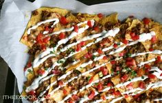 I Thee Cook: Beef Nachos with Spicy Chili Cheese Sauce