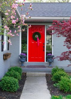 Nothing makes more of an impact than a pop of red on your front door. With so many bright BEHR paint colors to choose from, make sure to check out this curb appeal idea for vibrant outdoor inspiration.