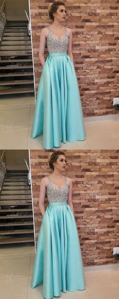 Charming Crystal Beading Prom Dress, Floor Length Long Prom Dresses, Elegant Homecoming Dress P1471 #promdress #promdresses #promgown #blackpromgowns #long #sequinsprom #modestpromdress #newpromdress #2018fashions #newstyles #beadings