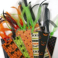 SALE, Half Price, Laminate Bookmark Collection, Party Favor Pack, Halloween